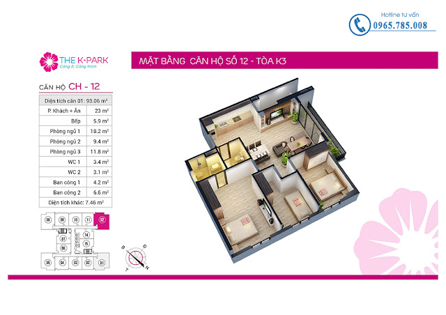 Thiết kế căn hộ số 12