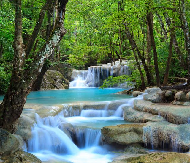 Maisematapetti Vesiputous tapetti vesi luonto metsä maisematapetti