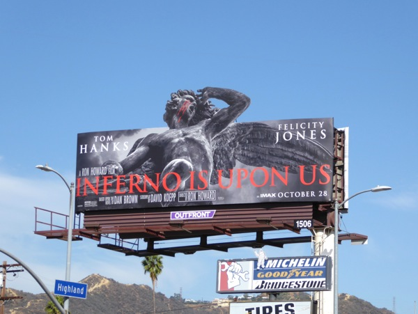 Inferno movie special extension billboard