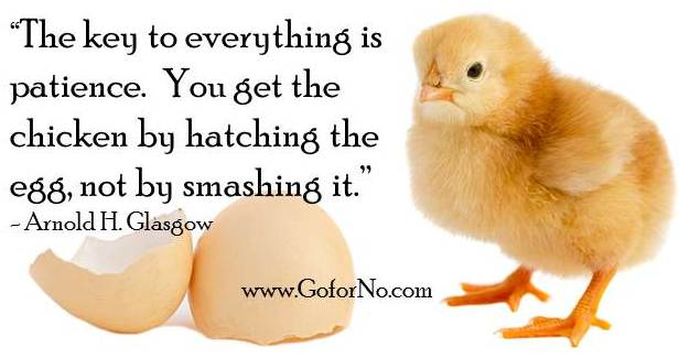Chicken Egg Or The Quotes Quotesgram: Fail Your Way To Success!: Success Requires Positive Patience