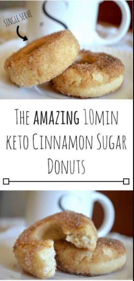 The Amazíng 10mín Keto Cínnamon Sugar Donuts