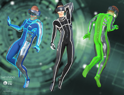 Virtual Reality Suit for Genesis 3 Male