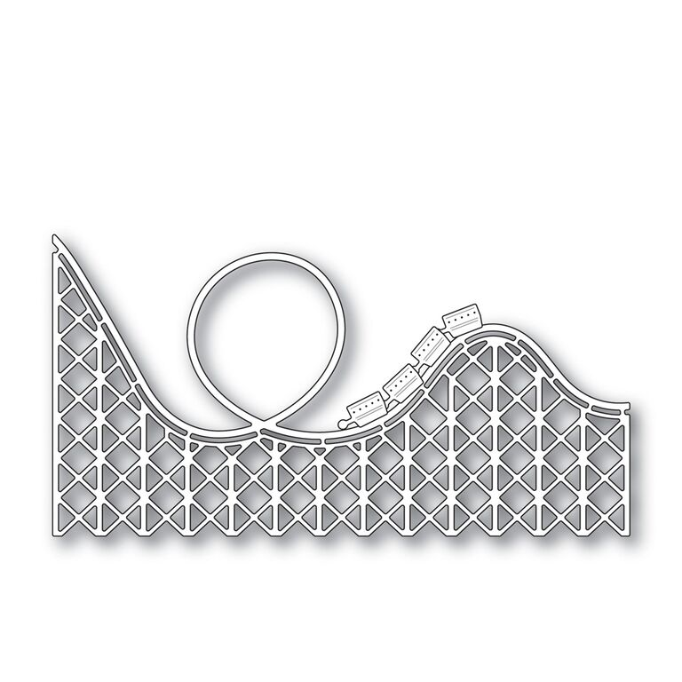 Yes virginia roller coaster card take 2 for Paper roller coaster loop template