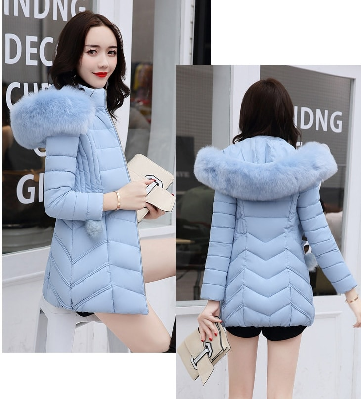 JAKET WINTER BULU HOODIE MUSIM DINGIN - COAT IMPORT - WINTER COAT WANITA