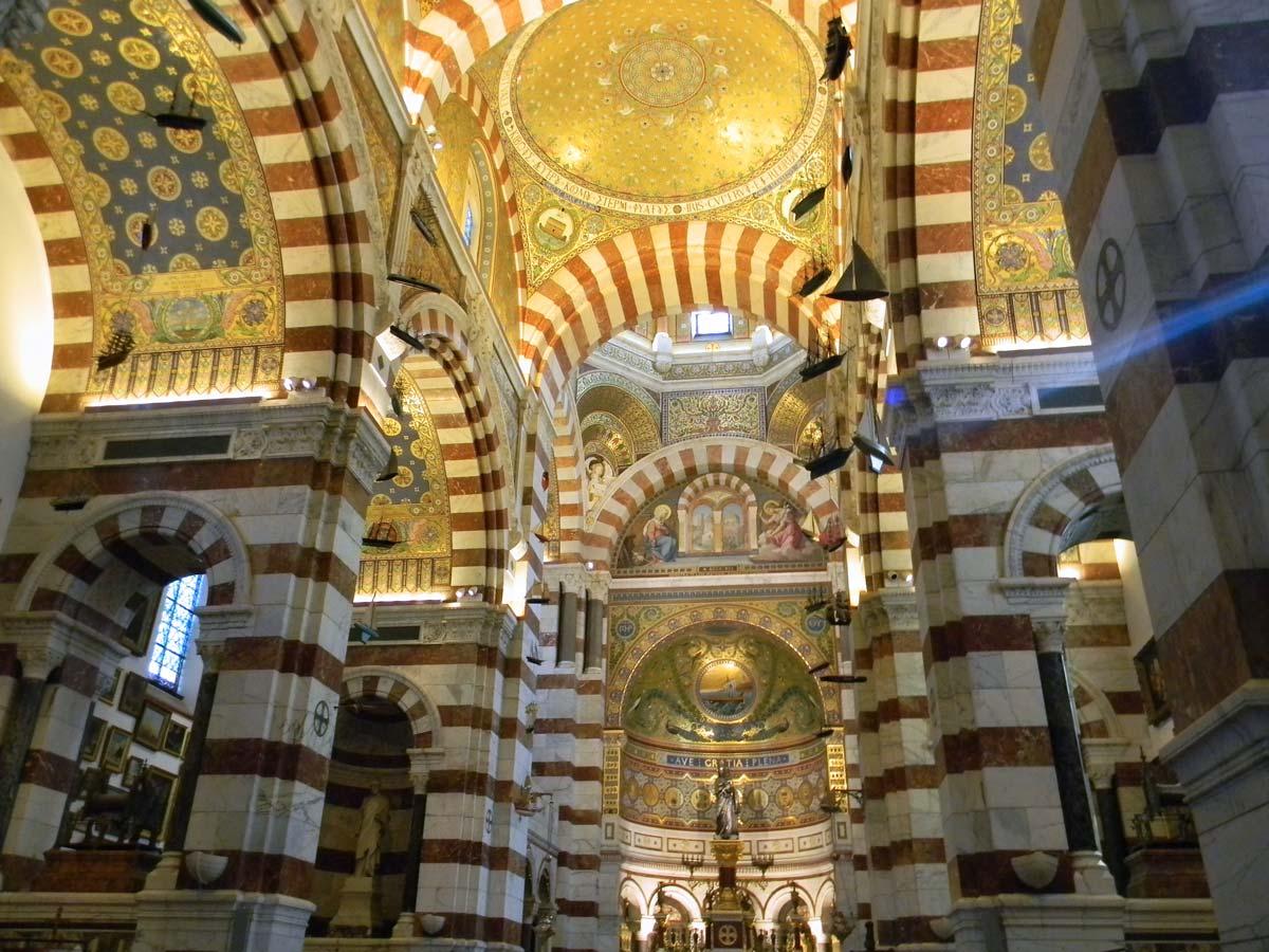 Notre-Dame-de-la-Garde, la Bonne Mère, Marseille, automne, église haute