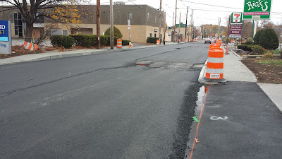 West Central St partially paved