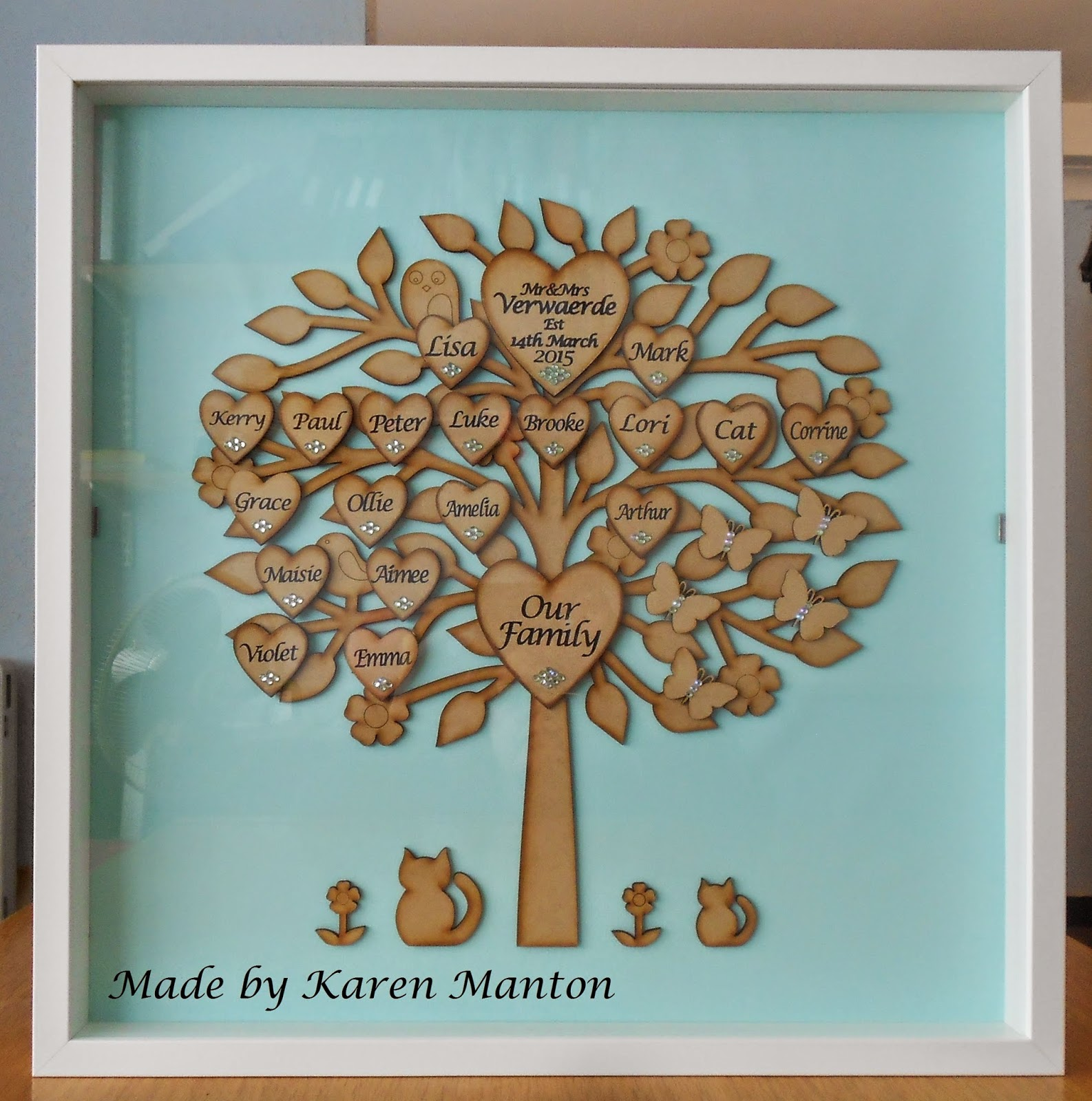 Glue Glitter And An Idea Large Family Tree Silhouette Cameo