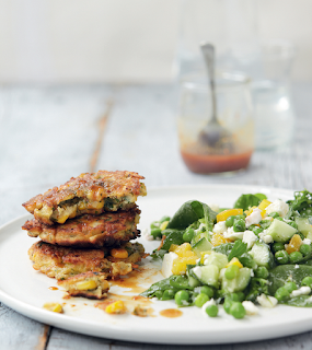 Sweetcorn and Broad Bean Fritters