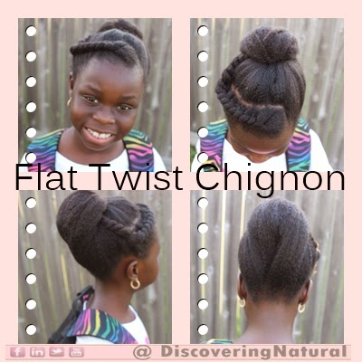 Quick Natural Hair Styles: Flat Twist Chignon