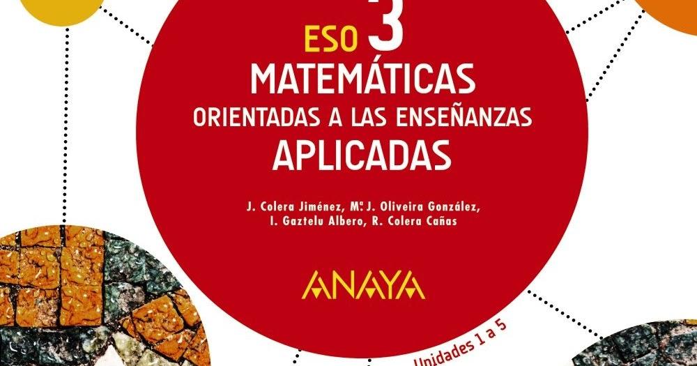 Eso Recursos De Matemáticas Soluciones 3ºeso 2015 2016 Matemáticas Aplicadas