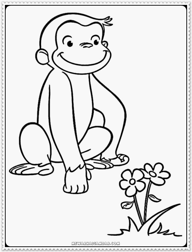 Curious George Printable Kids Coloring Pages