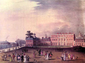 Queen's Palace  from The Microcosm of London by R Ackermann and W Combe (1808-10)