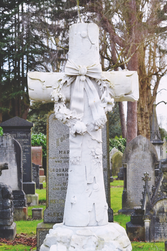 white headstone