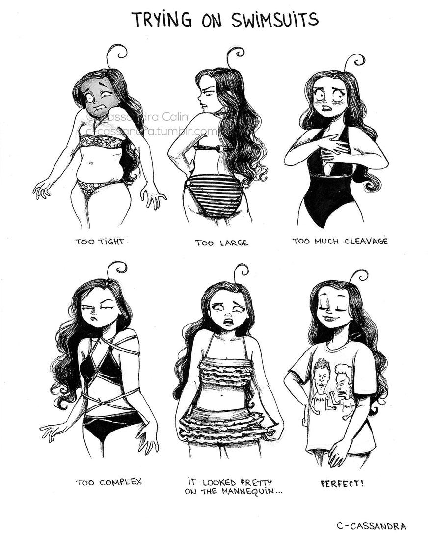 omorfos-kosmos.gr - Καθημερινά προβλήματα των γυναικών μέσα από 15 καταπληκτικά σκίτσα