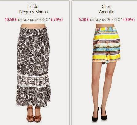Falda y short