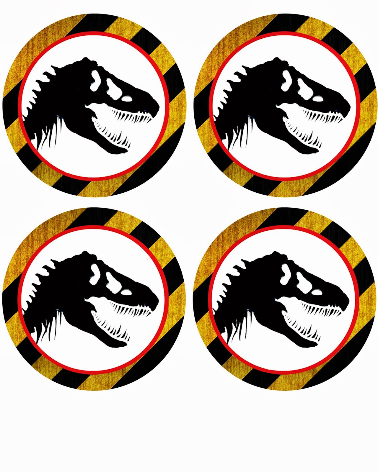 Free Dinosaur Jurrasic Park Party Printables