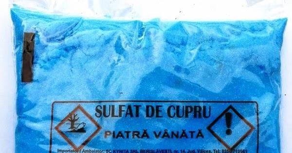 Sulfat de cupru - Piatra Vanata - Zeama bordeleza | ciuperca.realitateasatelor.ro