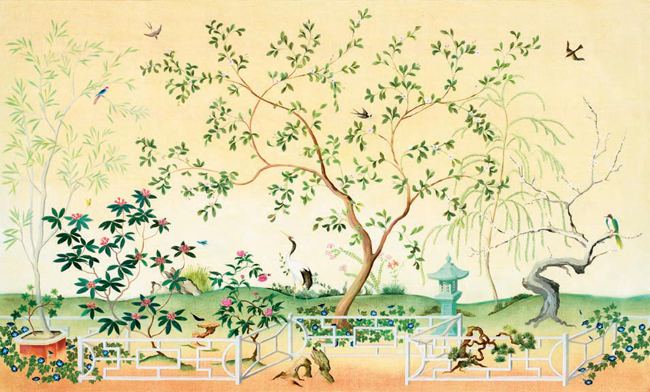Chinoiserie Chic Chinoiserie Wallpaper From Total