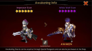 Rank Up Info Awakening Evan