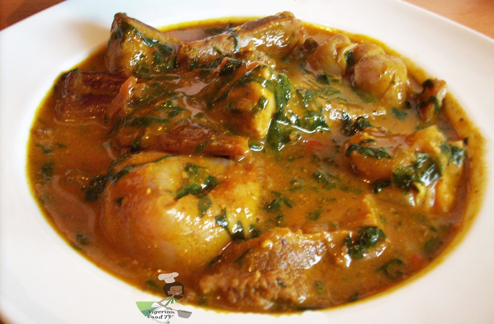 How to Cook Ogbono Soup , draw soup