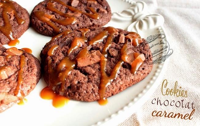 cookies chocolat et caramel