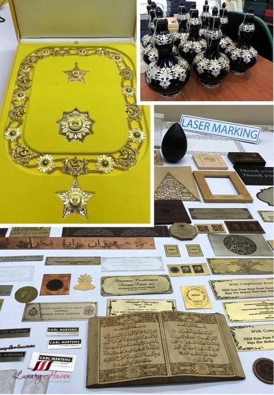 malaysia mariwasa kraftangan pewter gold silverware