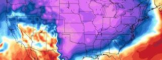 Frio artico impacta estados unidos.