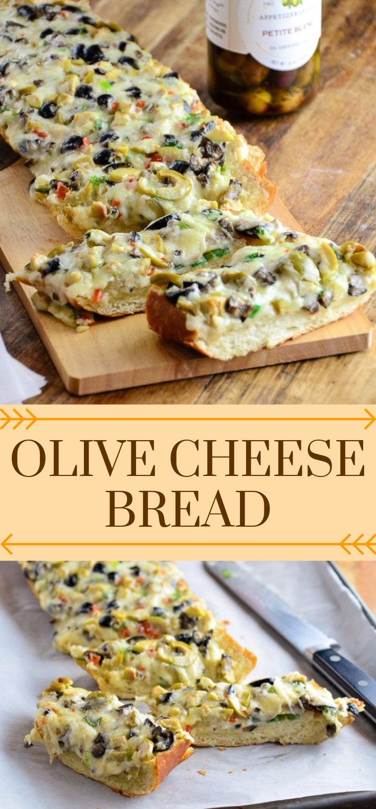 THE ULTIMATE APPETIZER: OLIVE CHEESE BREAD #foodrecipe #easy
