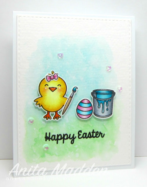 Sunny Studio Stamps: A Good Egg Easter Chick Card by Anita Madden