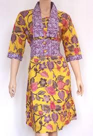 Dress Pakaian Batik Guru Wanita Muslim