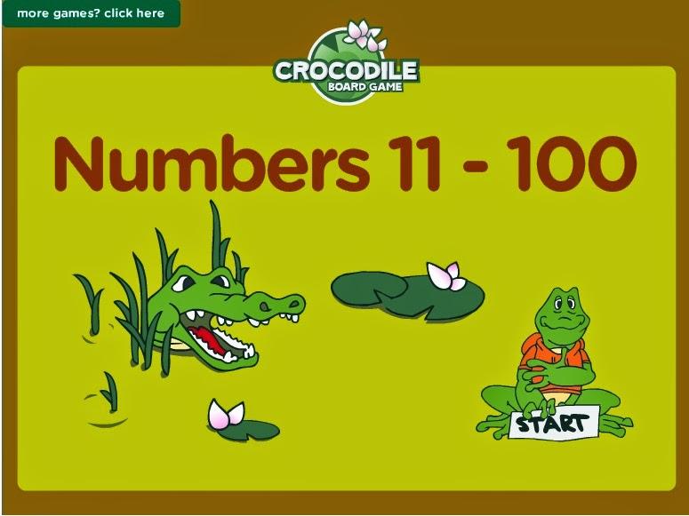 http://www.eslgamesplus.com/numbers-1-100-vocabulary-sentences-esl-vocabulary-and-grammar-interactive-crocodile-board-game/