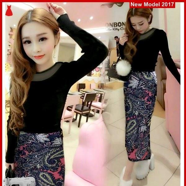 MSF0073 Model Setelan Skirt Murah Long Batik BMG