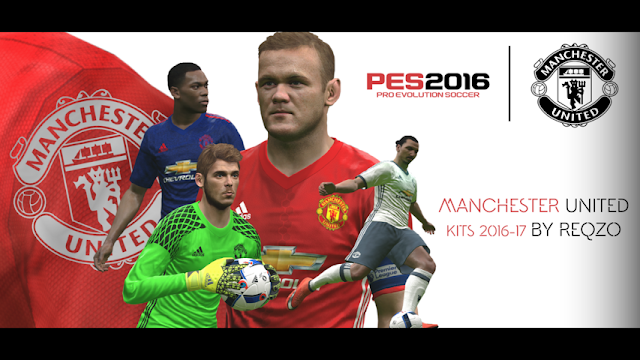 PES 2016 Manchester United Kit Season 2016-2017