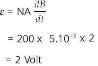 Jawaban soal fisika tentang induksi elektromagnetik nomor 3