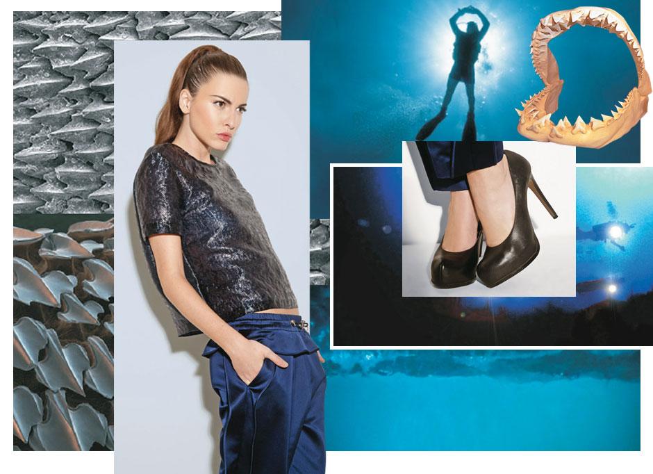 267252e39198 Mood da coleção Sport deluxe, com o tema Night Diving. Cenário Oceanos. Que  mulher representa o verão 2013 da grife? Uma mulher forte, segura e com ...
