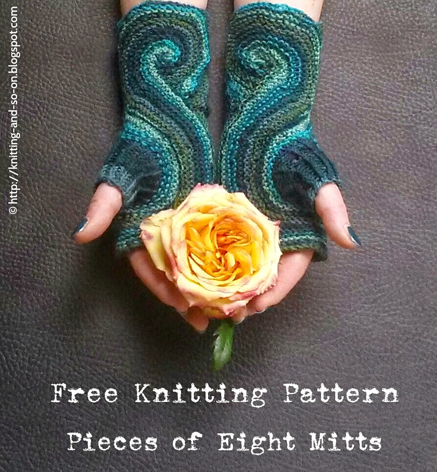 Free Knitting Patterns Nz : Knitting and so on: Pieces of Eight Mitts