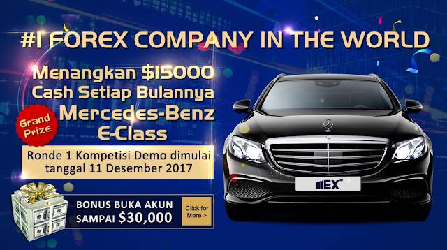 Kontes Trading MEX Group Berhadiah 15K $ Setiap Putaran , Hadiah Utama Mobil Marcedez Benz E-Class
