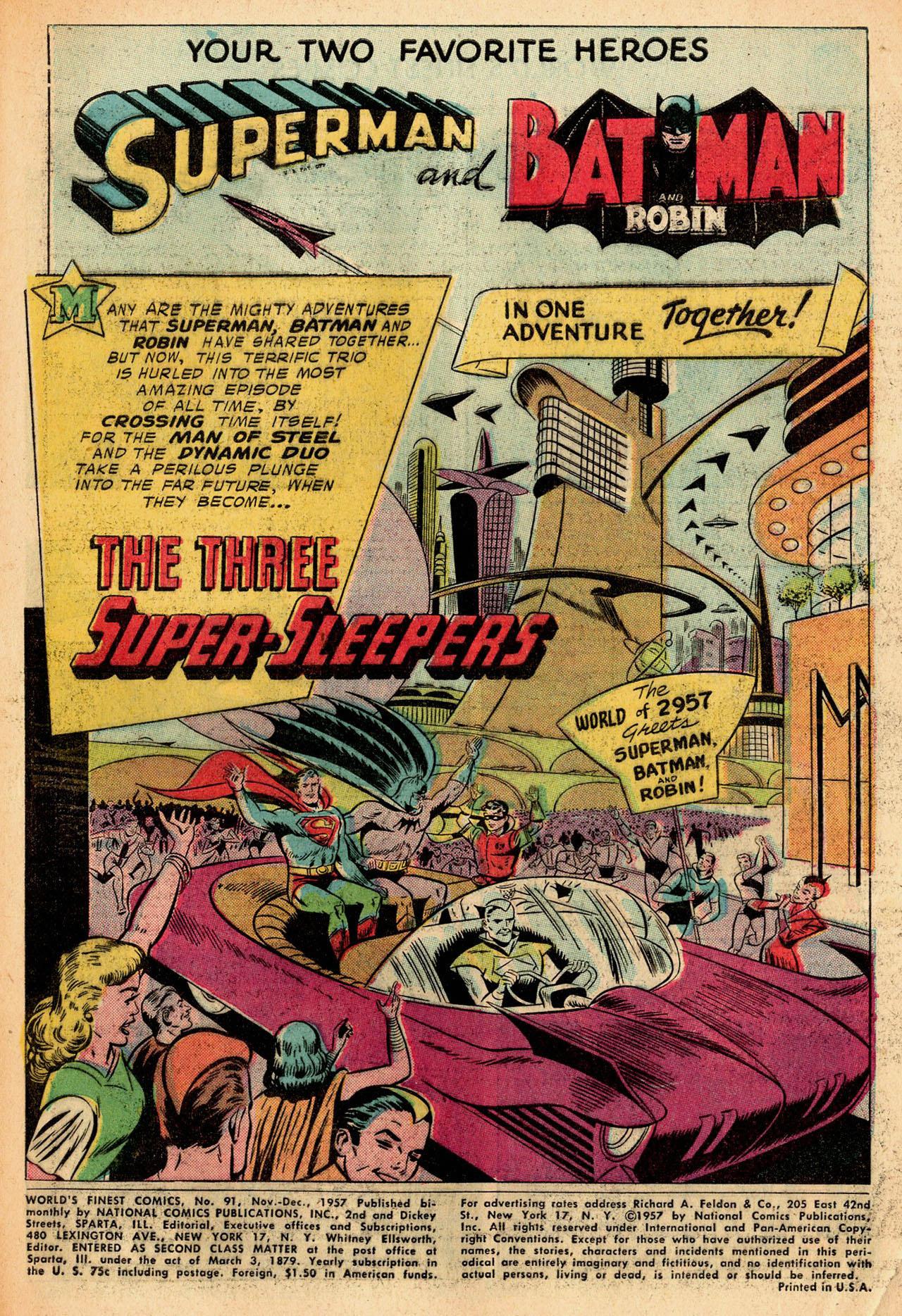Read online World's Finest Comics comic -  Issue #91 - 3