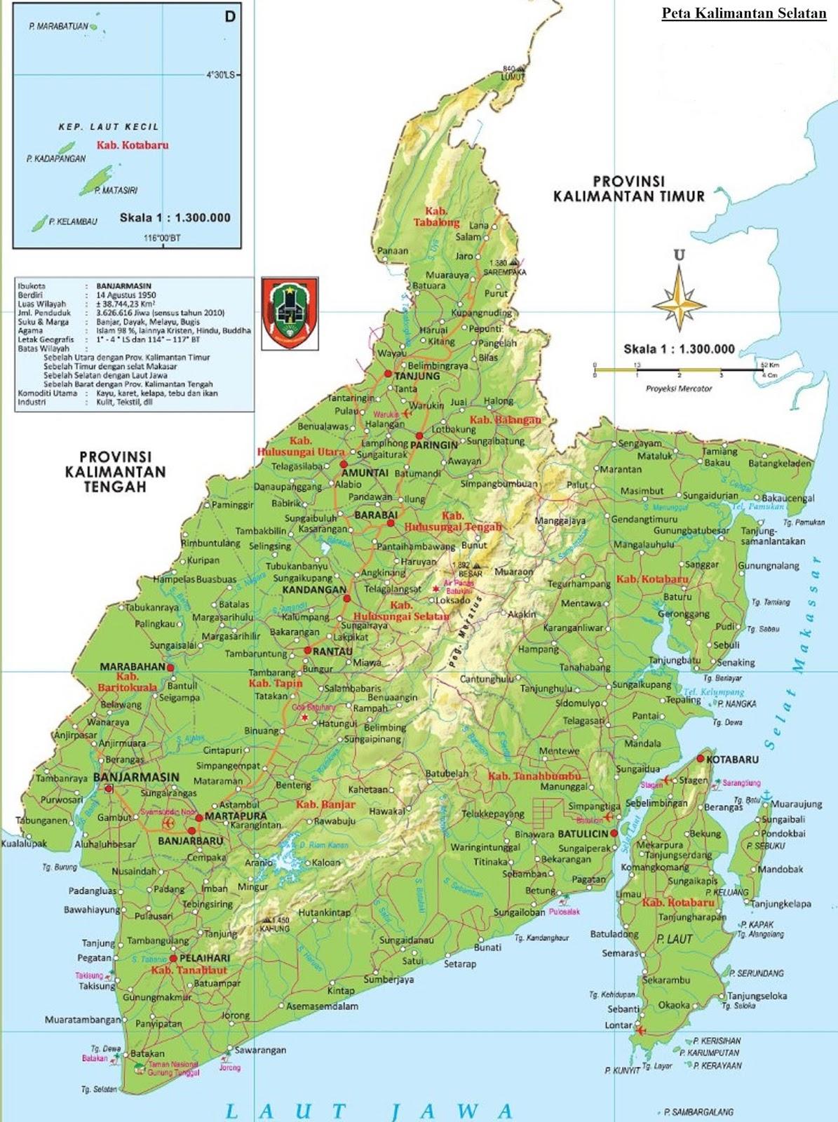 Peta Kalimantan Selatan HD
