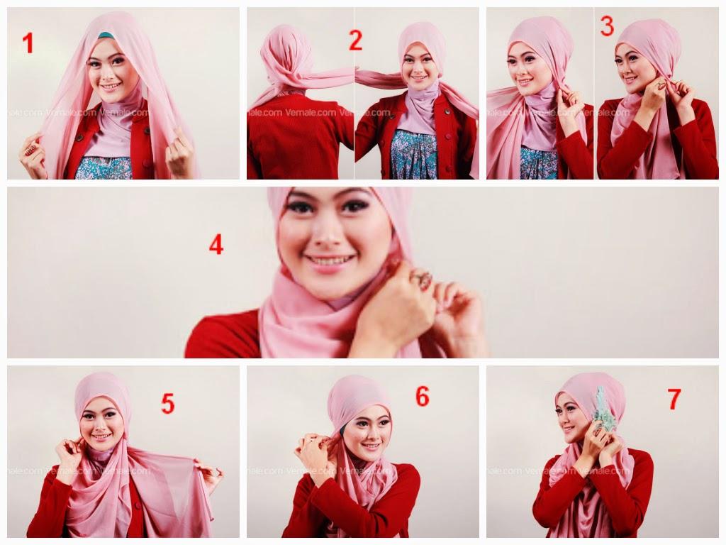 Tutorial Hijab Segi Empat Model Tumpuk Tutorial Hijab Paling