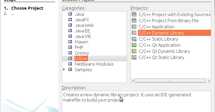 Proger's blog: Creating shared library for Linux in Netbeans