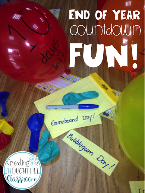 Creating a Thoughtful Classroom FUN Countdown to the Last Day of School FREEBIE!