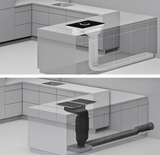 Extractor integrado en la cocina una alternativa a la campana tradicional cocinas con estilo - Extractor humos cocina ...