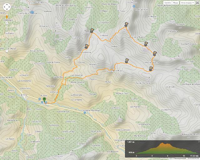 Ruta al Retriñón: Mapa de la ruta