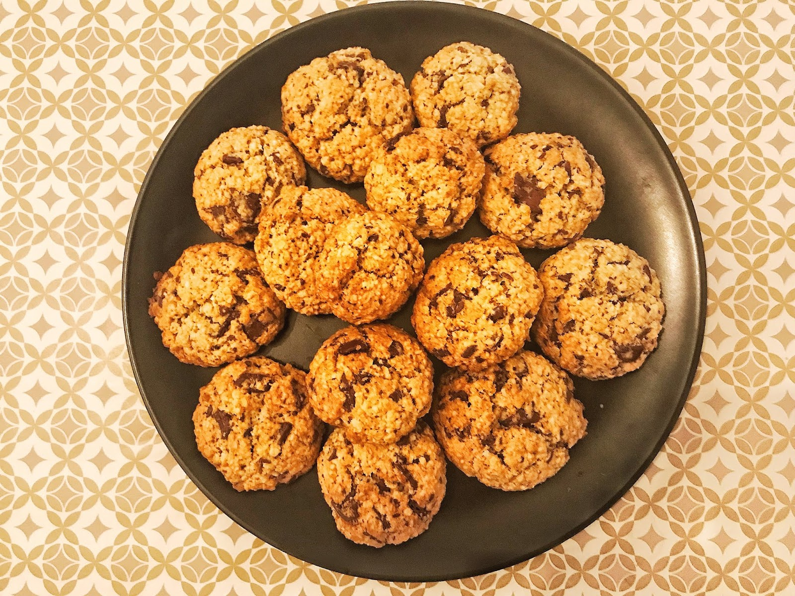 cookies flocons d'avoine chocolat sans oeufs