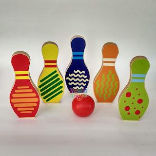 Bowling New Mainan Kayuku Agdia Toys
