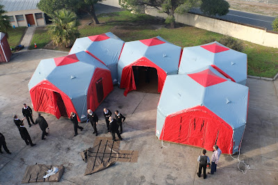 INFLATABLE COMMAND CENTRE DEPLOYED IN WESTERN CAPE