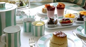 Afternoon tea at Claridges, London