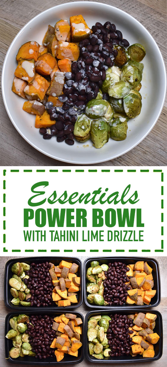 Essential Power Bowl with Tahini Lime Drizzle