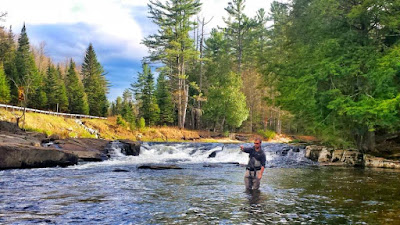 Fly Fishing the Ausable River in Wilmington